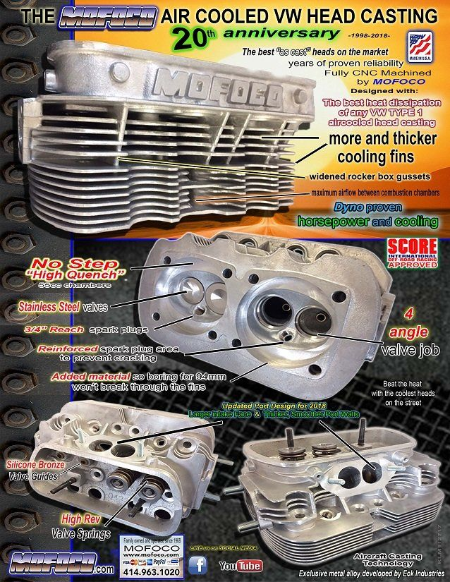MOFOCO: VW Performance Heads, Rebuilt vw transmissions, air cooled