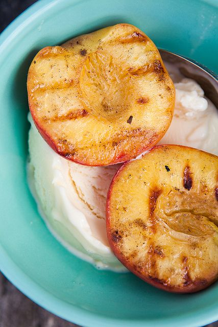 Grilled Peaches with Goat Milk Ice Cream by The Year in Food