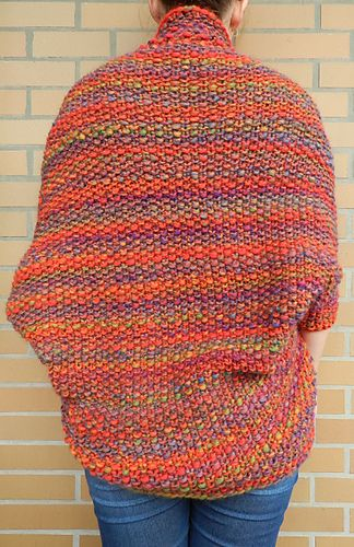 Knit a beautiful and cozy shrug in every color of the rainbow ...