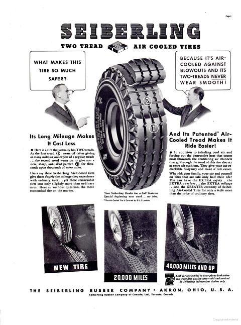Vintage 1937 Diamond Tires Ad