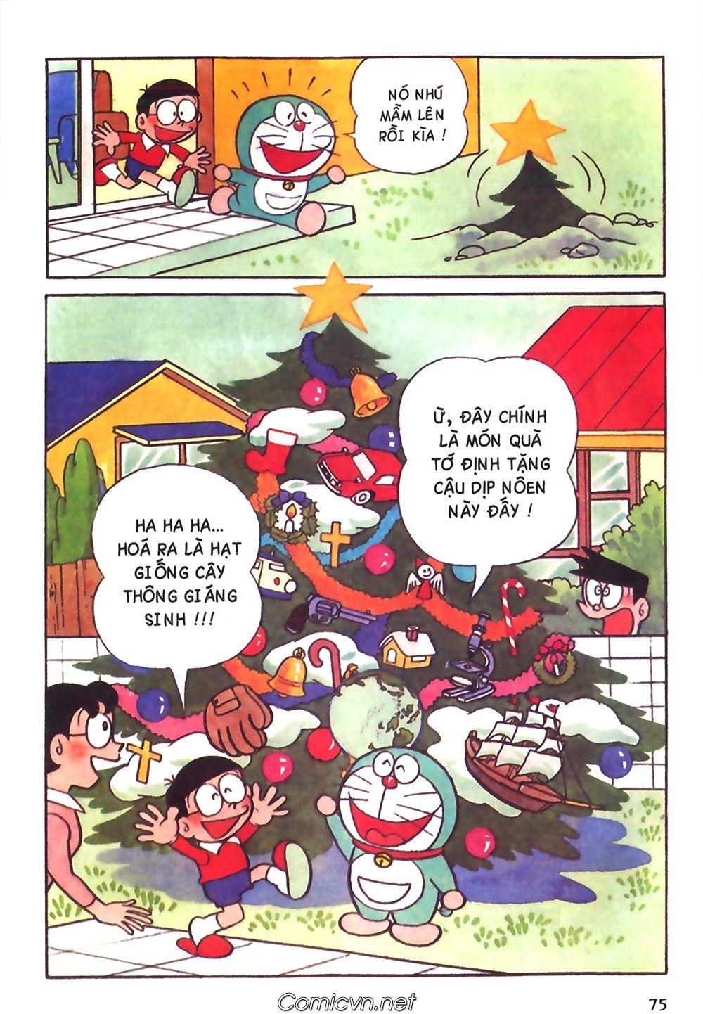 Doraemon màu : 110: hạt giống cây thông noel Truyện Tranh trong 2021