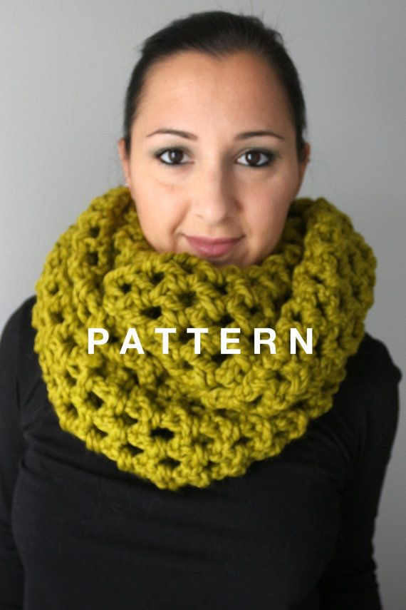Super Easy And Quick Oversized Infinity Scarf Crochet Pattern Pdf