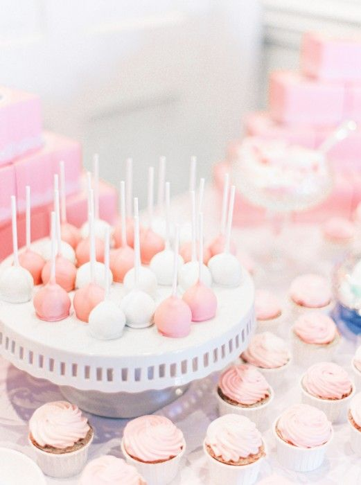 Pink and white cakepops Sophisticated Wedding  ~ Pasha Belman Photography