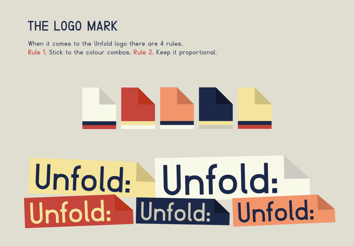 Unfold Visual Arts Brand Guidelines