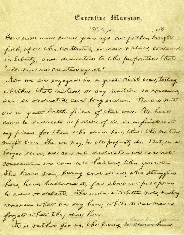 Written On Presidential Stationery This Manuscript Is A Facsimile
