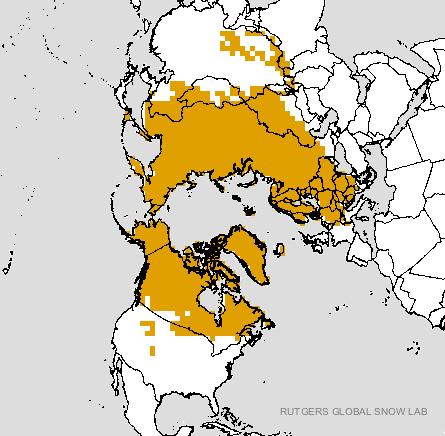Rutgers University Climate Lab :: Global Snow Lab    Snow in Northern Hemisphere --Nov. 26, 1998
