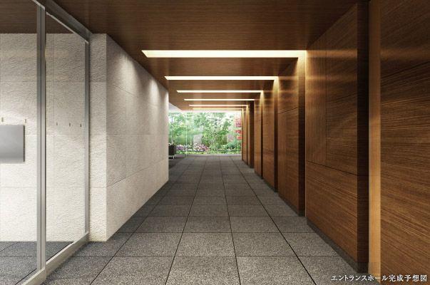 エントランスホール完成予想図 アパートの玄関 エントランスホール