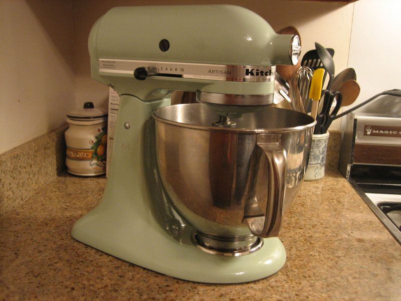 Photo Pistachio Kitchenaid Mixer | ... To My Kitchen Family, The Marvelous  Pistachio