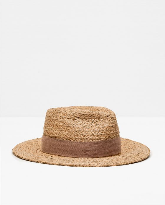 84087b6f Image 1 of RAFFIA HAT from Zara | Clothing, Shoes, and Textiles ...