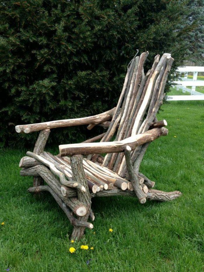 Gartenmöbel Holz Rustikal Stuhl Treibholz
