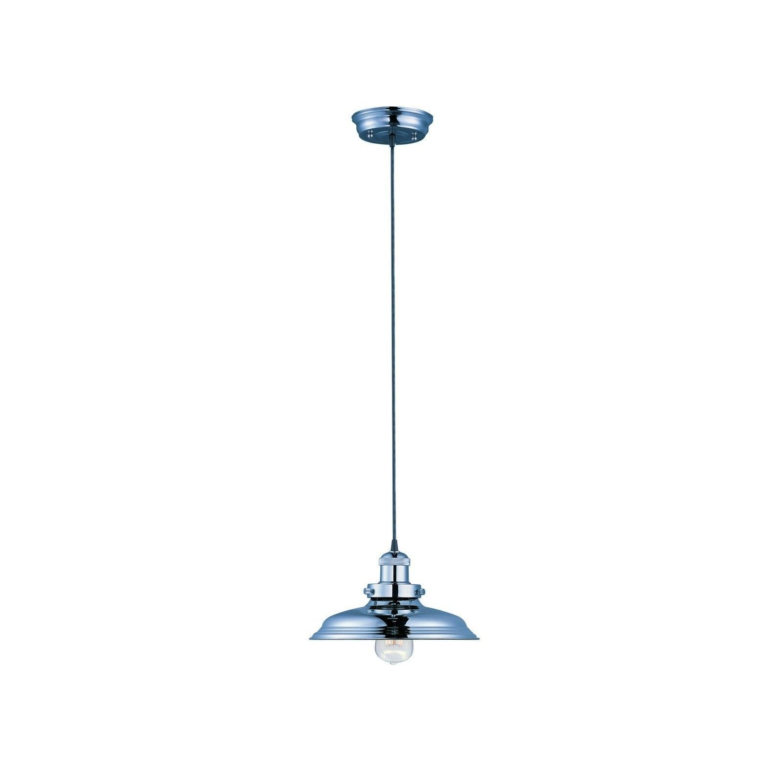 Maxim 1-light Nickel Mini Hi Bay Single Metal Pendant (Mini Hi-Bay 1-Light Pendant W/Bulb)