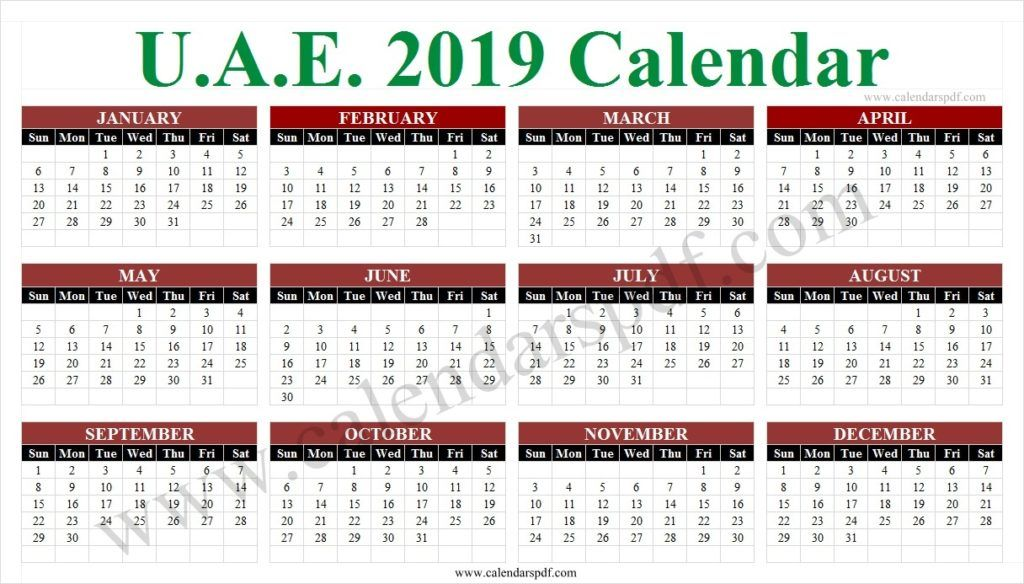 School Calendar 2019 Uae With Images School Calendar Yearly