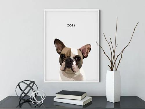 Custom Pet Portraits Framed In 2020 Portrait Frame Custom Pet Portraits Fancy Artwork