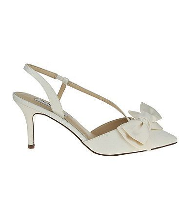 Nina Teddi Slingback Pointed Toe Pumps Nina Bridal Shoes Wedding Shoes Heels Bridal Shoes