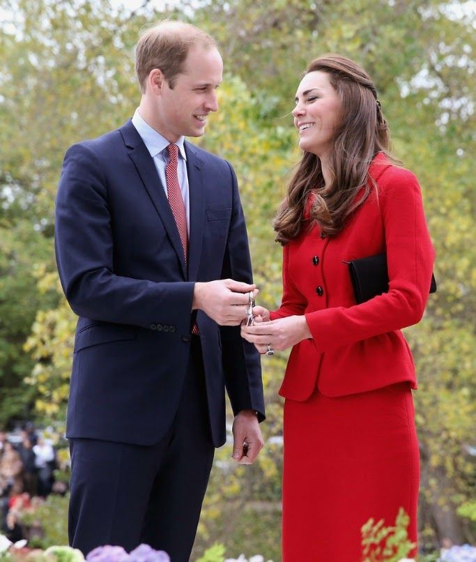 14 April 2014 - Day 8  Prince William and Catherine, Duchess of Cambridge visited Christchurch, New Zealand.