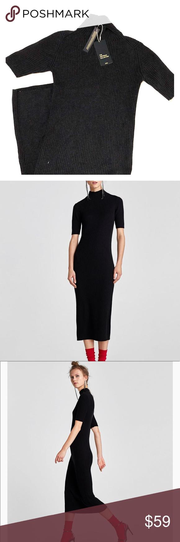 f7a0936004 NWT 🏷Zara Knit Ribbed Midi Dress Never worn, perfect condition Zara ...