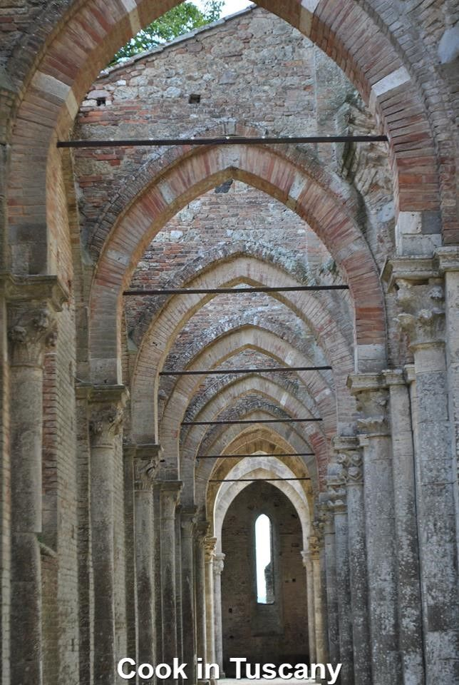 The roofless cathedral of San Galgano    www.cookintuscany.com     #Italy #montefollonico #cookintuscany #cooking #school #tuscany #culinary #montepulciano #class #schools #classes #cookery #cucina #travel #tour #trip #vacation #pienza #florence #siena #cook #tuscan #cortona #pienza #pasta #allinclusive #women #underthetuscansun