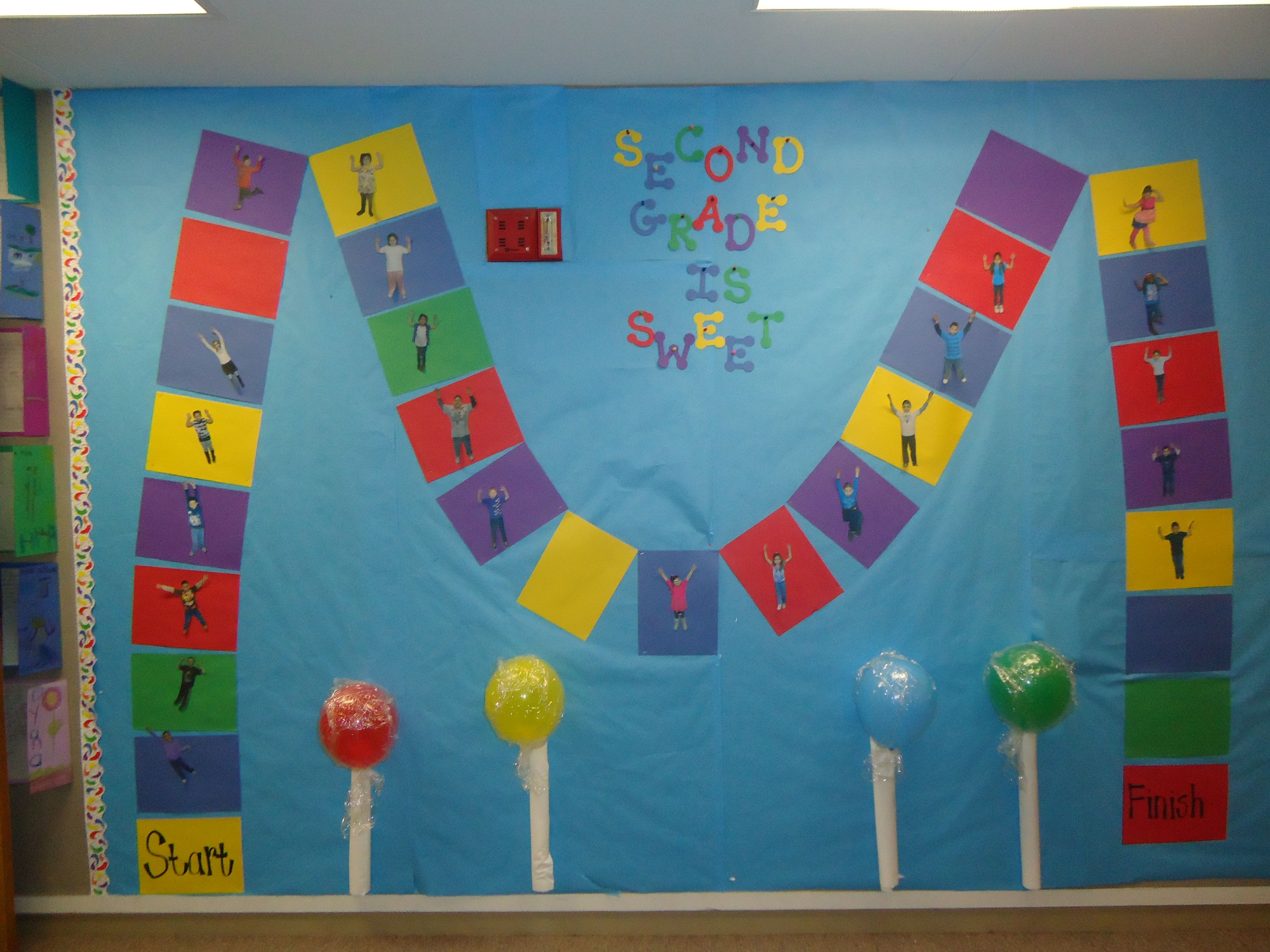 CandyLand Themed bulletin board. I used it during the ...