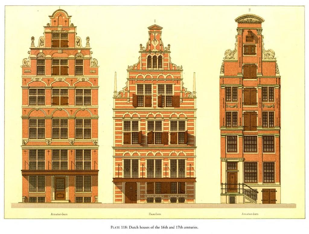 Elevations of dutch houses of the 16th and 17th centuries for Dutch house