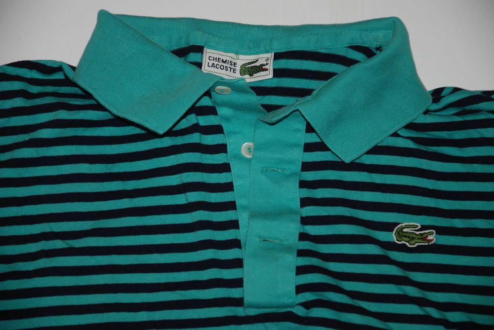 Uk Polo Devanlay Striped Based Mens Shirt Vintage Lacoste Chemise LjUzqGMVpS