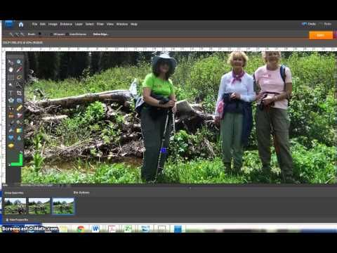 How to Add a Person to a Photo with Photoshop Elements - YouTube