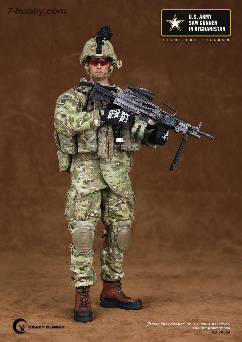 Black Radio /& Headset 1//6 Scale Toy Chinese PLA Machine Gunner