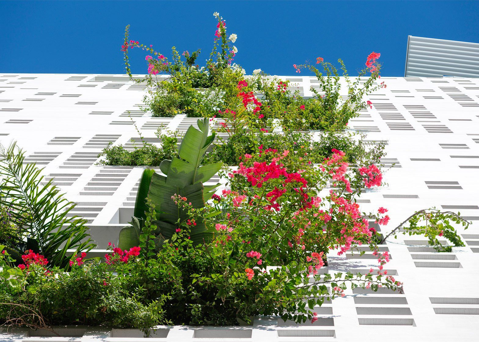 Ateliers Jean Nouvel Has Built A Tower Block In Nicosia Cyprus Featuring Perforated Walls And Wide Balconies That Green Architecture Green Facade Jean Nouvel
