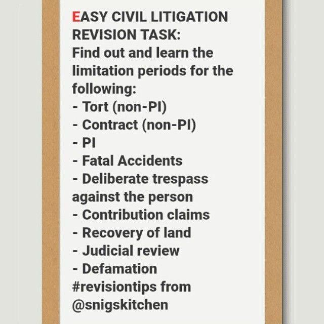 Easy civil litigation revision task job ideas Pinterest