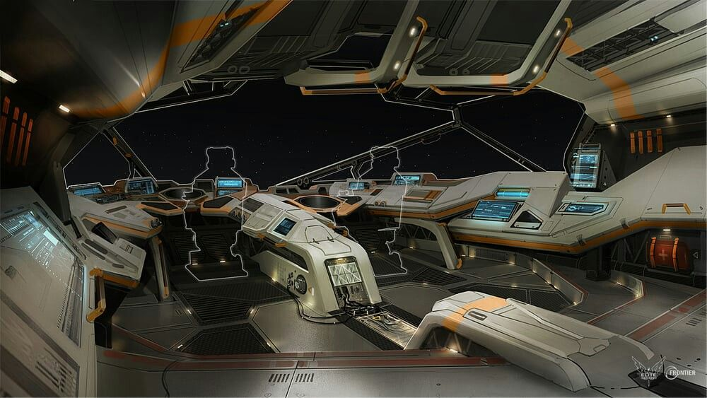 Elite Dangerous Python Interior Concept | Spaceship and vehicle