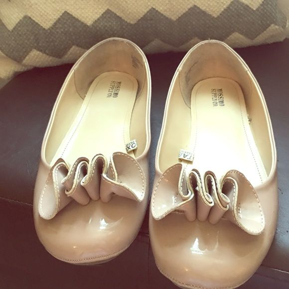 Nude/light pink shoes OMG I ❤️these shoes! Wore my first pair till they fell apart. Found these on posh and tried to make them work, but they are an 11 and I'm a 10:(  adorable ruffle detail and shiny patent like material. Color is perfect and you can wear with just about anything. Mossimo Supply Co. Shoes Flats & Loafers