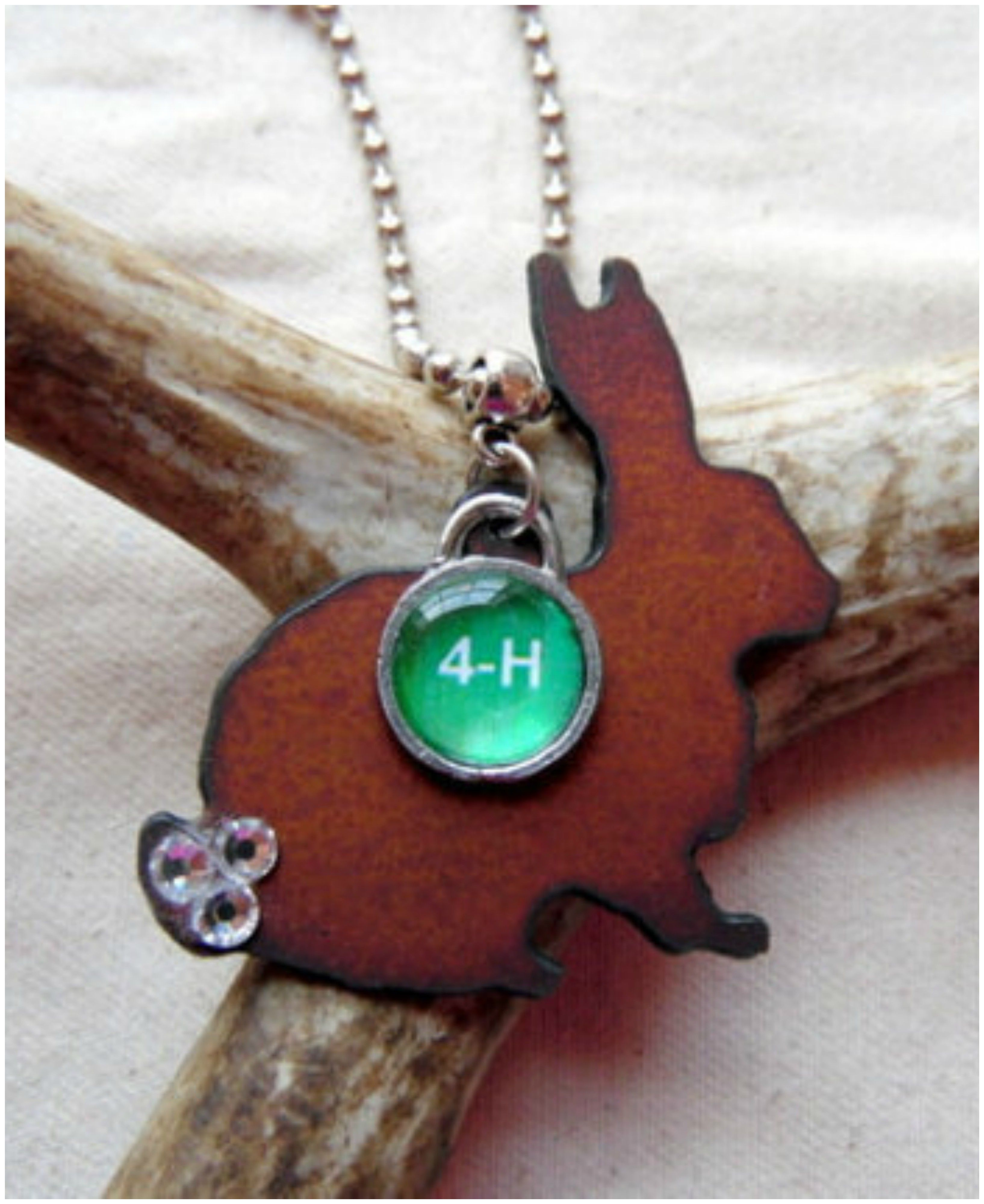 This 4 H Rabbit Necklace Is So Sweet And A Great T For