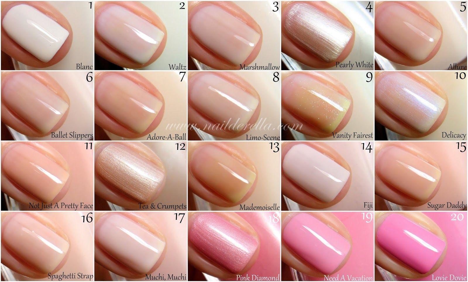 Essie Color guide #1-100!   Nailderella   5   Nails, Essie