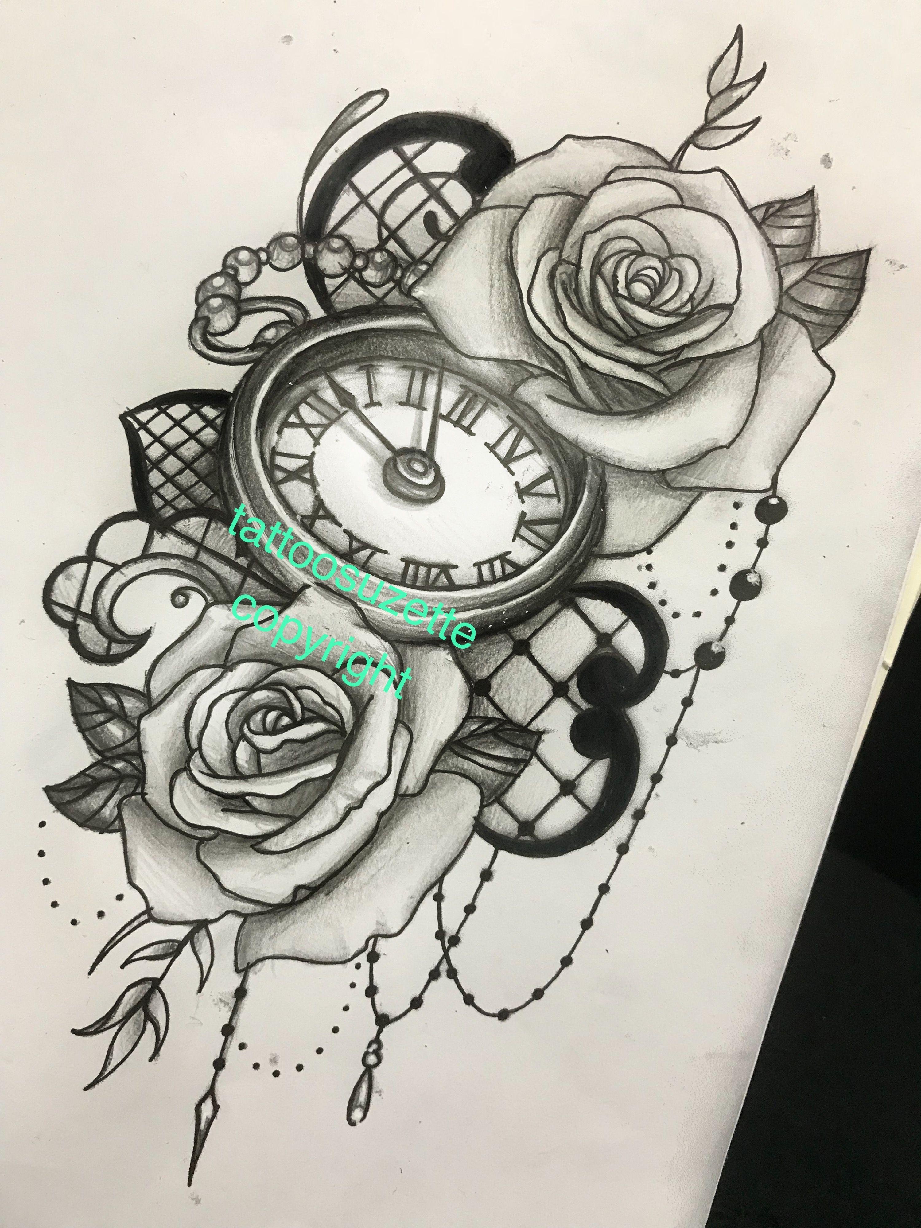 Clock Tattoo Design Clock Tattoo Design Dream Catcher Tattoo Design Lace Tattoo