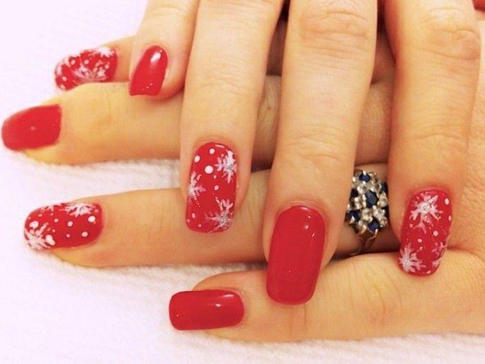 nageldesign weihnachten bilder in rot nails pinterest. Black Bedroom Furniture Sets. Home Design Ideas