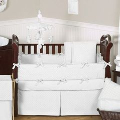 Solid White Minky Dot Baby Bedding 9pc Crib Set By Sweet Jojo Designs White Baby Cribs Crib Bedding Boy Baby Bed