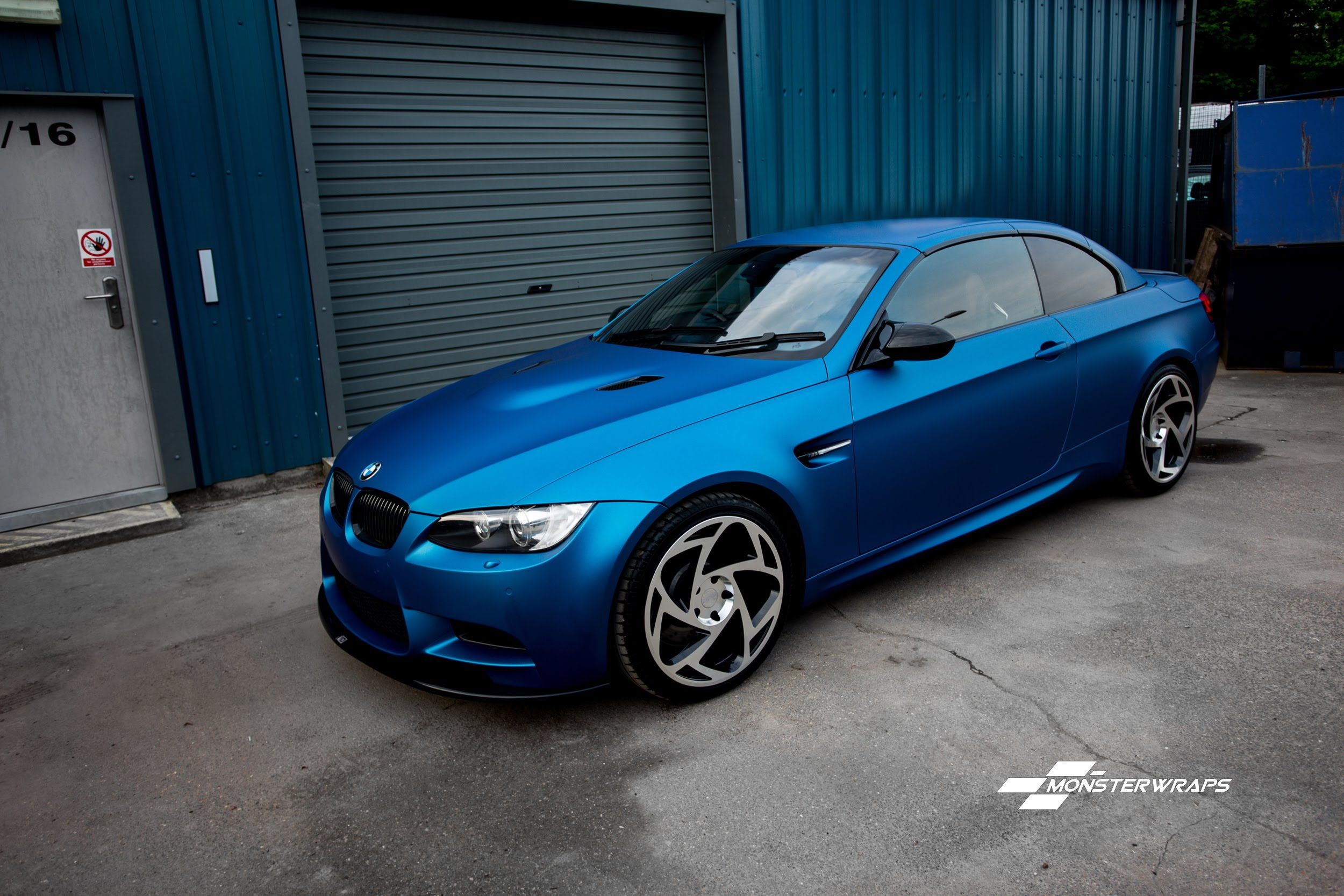 Monsterwraps Car Wrap Southampton Matte Blue Metallic Bmw M3