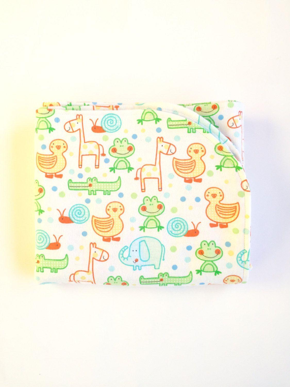Gender Neutral Jungle Receiving Blanket, Baby Animals Receiving ...