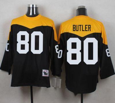 quality design c0ee4 f6dc5 Pittsburgh Steelers Jersey 80 Jack Butler Black Yelllow ...