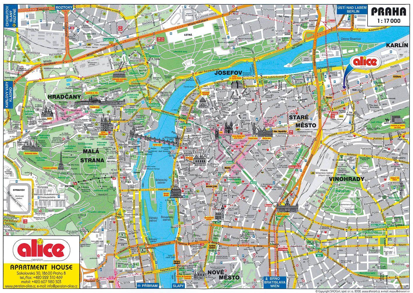 Turisticka Mapa Karlovy Vary Praha Ulice
