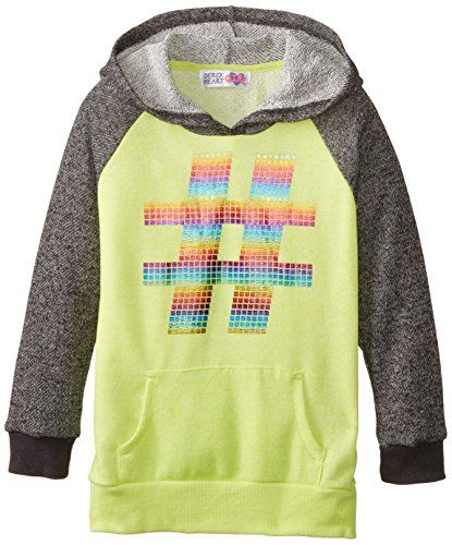 Derek Heart Big Girls' Pullover Hoodie with Foil Print, Black/Lime, Small Derek Heart http://www.amazon.com/dp/B00LY2Z7Z6/ref=cm_sw_r_pi_dp_jnDJub0KJNB8H