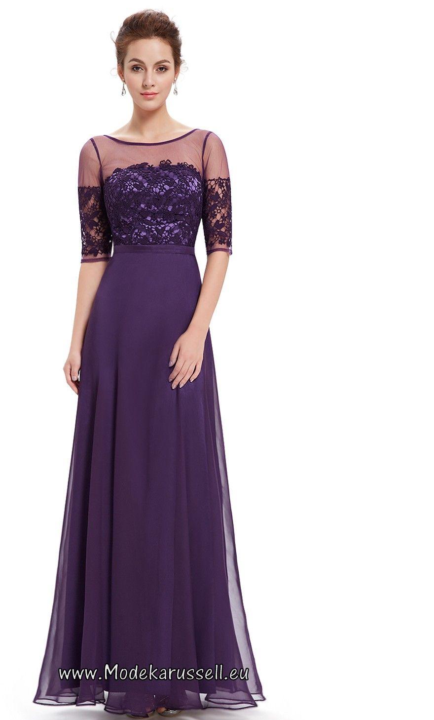 Halbarm Vintage Maxi Abendkleid 2017 Soraya Lila ...