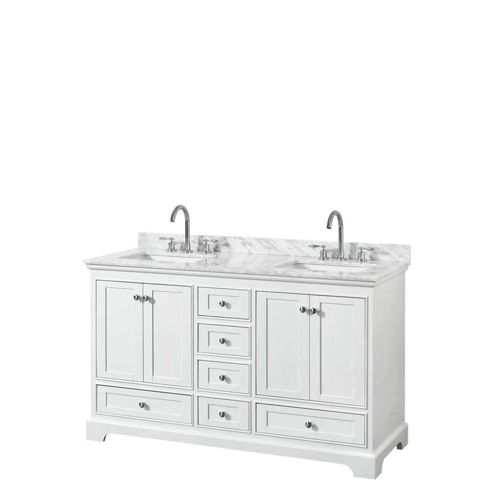 Wyndham Collection Deborah 60 In W X 22 In D Vanity In White