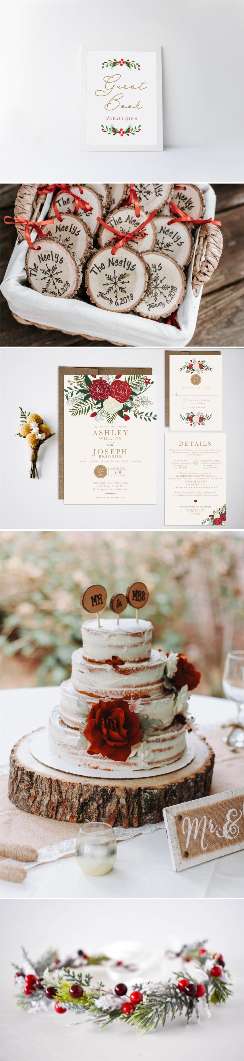 Christmas Wedding Ideas || Holiday Wedding || Winter Wedding || Red ...