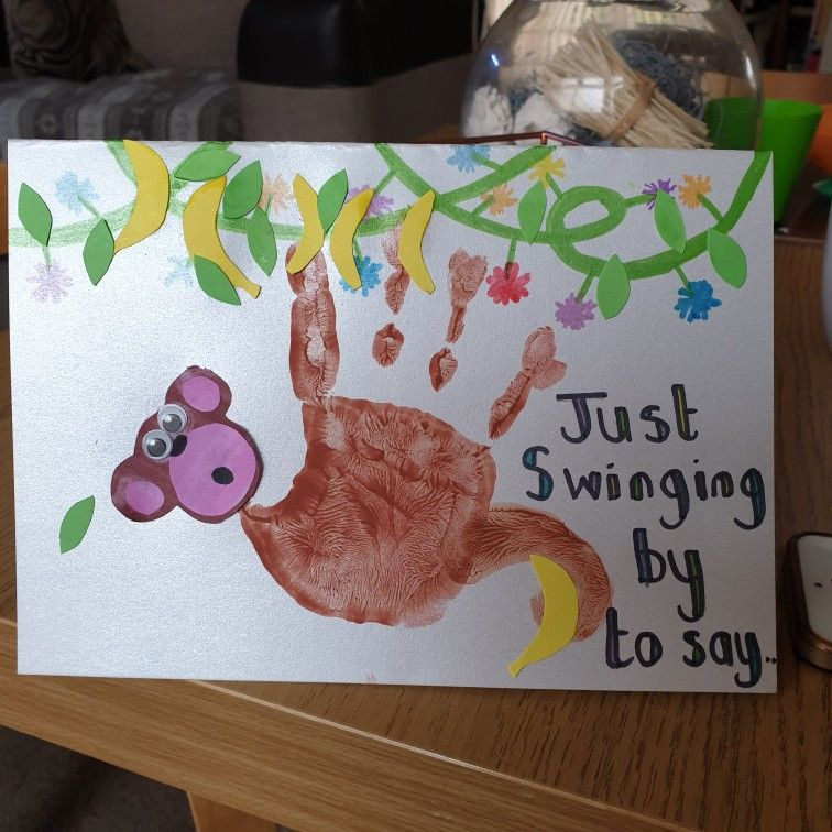 Just Swinging By To Say Happy Birthday X Craft Activities Handmade Crafts Crafts