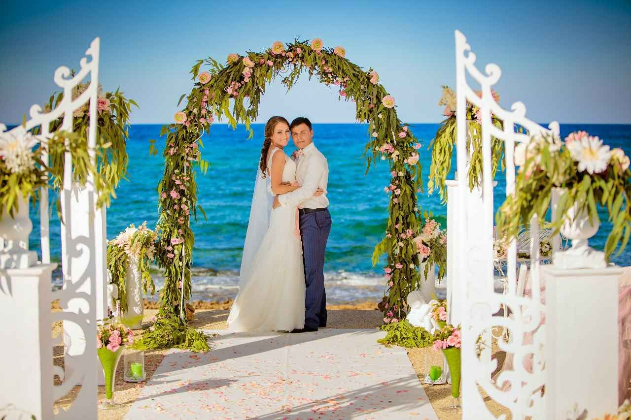 Beach Wedding With A Marvelous Views Of The Sea Protaras Cyprus