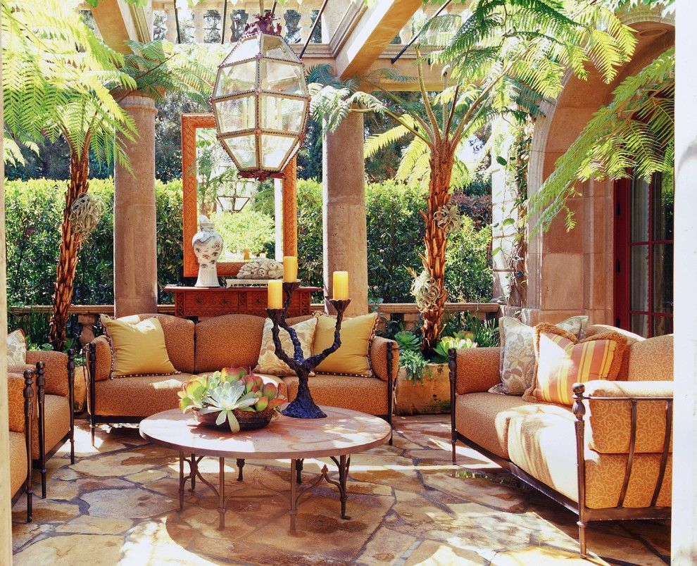 Mediterranean Decor Redefining Patio Design  Tuscan Style Patios And Mirror Sale