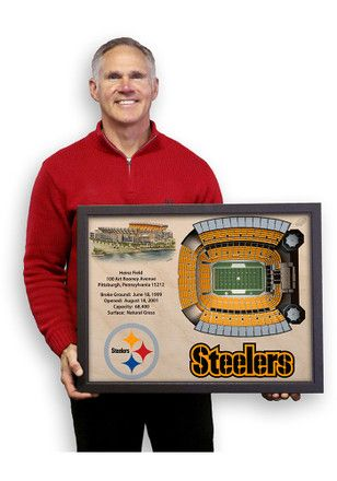 78826671 Pittsburgh Steelers 3D Stadium View Wall Art | NFL - Pittsburgh ...