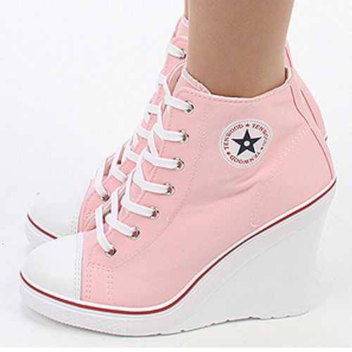 Details about Wedges Trainers Heels Sneakers Platform High