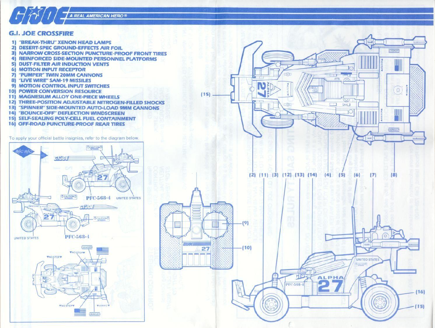Gi crossfire blueprint blueprints pinterest crossfire and gi joe gi crossfire blueprint malvernweather Image collections