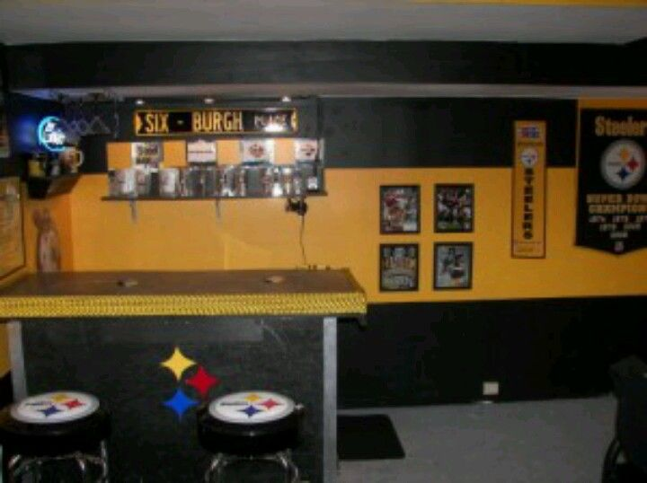 Steelers Bedroom Ideas for the steelers man cave | man cave | pinterest | men cave and